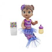 Baby Alive - Papusa interactiva Sirena Shimmer N' Splash satena