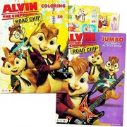 Alvin And The Chipmunks Coloring And Activity Book Set With Stickers (2 Coloring Books, Over 30 Stickers)