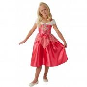 Costum fetite Fairytale Sleeping Beauty, marime M, 5-6 ani