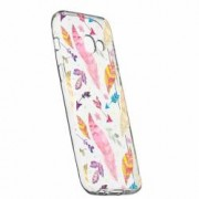 Husa Silicon Transparent Slim Happy Feathers Samsung Galaxy A3 2017