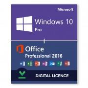 Paquete Windows 10 Pro + Microsoft Office 2016 Professional - Licencias digitales - Software para descargar