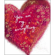 grote valentijnskaart woodmansterne - you are my everything - hart