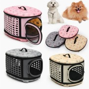 Small Pet Dog Cat Puppy Kitten Carrier Portable Cage Crate Transporter Bag
