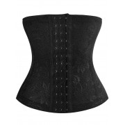 rosegal Embroidery Jacquard Waist Trainer Corset