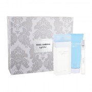 Dolce&Gabbana Light Blue confezione regalo eau de toilette 100 ml + crema corpo 100 ml + eau de toilette 10 ml da donna