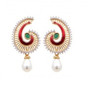 Indian Style Beaded Dangle Drop Fashionable Earrings Traditional Jhumka Jhumki Earrings for Women 19 Maroon