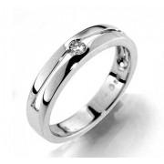 Prsten s diamantem, bílé zlato 386-1190 elegantní Gems Afra