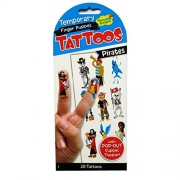 Peaceable Kingdom Pirates Finger Puppet Temporary Tattoos