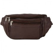AspenLeather Genuine Leather Brown Waist Bag