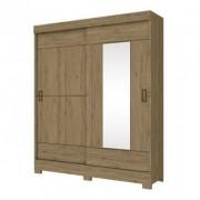 Guarda Roupa Briz 2 Portas Deslizantes 1 Espelho Rstico