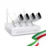 Kit Videosorveglianza WiFi Esterno Foscam con 4 Telecamere IP Wireless Full HD 1080P con sistema Mesh e Hardisk 1 TB Incluso
