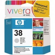 HP 38 ( C9414A ) Light Grey Pigment Ink