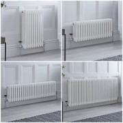 HudsonReed Radiateur style fonte rétro horizontal – Blanc - Triple rang – Choix de tailles et de pieds - Windsor