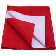 Glassiano Waterproof Baby Bed Protector Dry Sheet (70x50 CM) Small Size Red