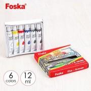 Set culori tempera Foska 12 culori x 12 ml non toxic