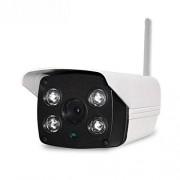 XUNHANG Teléfono móvil Remoto Cámara de vigilancia HD Cámara inalámbrica WiFi Cámara de vigilancia Exterior WiFi Cámara de Seguridad inalámbrica al Aire Libre (Color : White)
