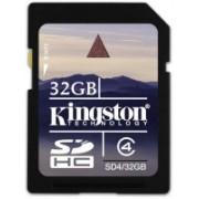 Kingston 32 GB SDHC Class 4 20 MB/s Memory Card