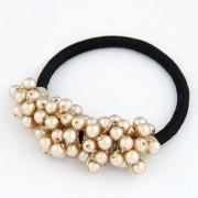 BAGISIMO Gumička se zlatými perlami