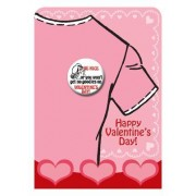 Valentine's Day Button - Be Nice or You Won't Get No Goodies on Valentine's Day