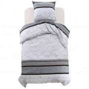 vidaXL Комплект спално бельо, 2 части, флорално райе, 140x200/60x70 см