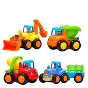Jaynil Enterprise™ Unbreakable Engineering Automobile Construction Car Machine Toys Set - Multi Color (Set of 4)