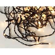 Star Trading Serie LED ljusslinga 16m, 160 ljus varmvit svart kabel IP44