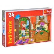 Puzzle copii Trefl, 24 piese, model Scufita Rosie