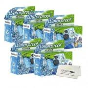 Quality Photo Fujifilm Quick Snap Waterproof 27 exposures 35mm Camera 800 Film, 1 Pack + Microfiber Cloth (5 Pack)