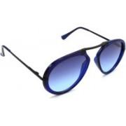 Redleaf Wrap-around, Aviator Sunglasses(Blue, Clear)