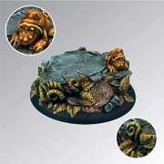 Scenic Bases - Round Edge Scibor Monsterous Miniatures Toad in Ferns - 50mm Round Edge Base