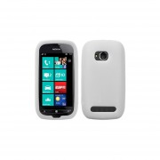 Funda Silicon Nokia Lumia 710 700 Blanco