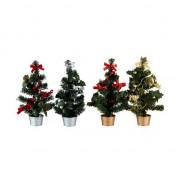 Kerstboom 30 cm rood/zilver