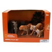 Set 4 figurine - Leopard Elefant Tigru si Pui Tigru