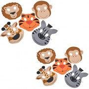Twice Booked Foam Zoo Animal Mask Two Pack Two Packages Of 12 Masks Total 24