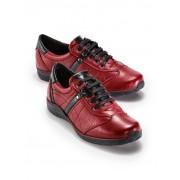 Walbusch Hirschleder-Sneaker Rot 38