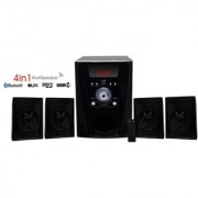Portable home theater Bass 4 in 1 Speaker with Bass FM USB AUX SD Card Bluetooth high sound with remote