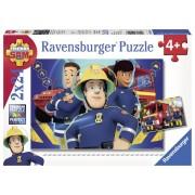 Puzzle Pompier Sam, 2X24 Piese