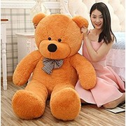 BB TOYS Super Soft Extra Large 5 Feet Lovable/Huggable Teddy Bear with Neck Bow for Girlfriend Gift/Boy (152 CM, Brown)
