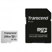 Micro SD Card, 256GB, Transcend, Class10, 1xAdapter (TS256GUSD300S-A)