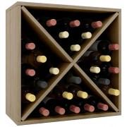 Vcm Weino III Wijnrek - 52 x 52 x 25 cm - Hout - Modulair samen te stellen - 26 flessen