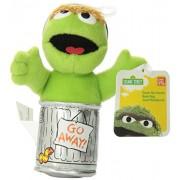 "Enesco Sesame Street 5"" Oscar The Grouch Beanbag Gund Plush"