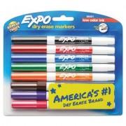Low-Odor Dry-Erase Marker, Fine Point, Assorted, 8/set