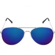 Meia Silver Frame Blue Mercury Aviator Unisex Sunglass