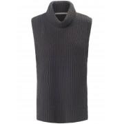 (THE MERCER) N.Y. Dames Slip-over van 100% kasjmier met col Van (THE MERCER) N.Y. grijs