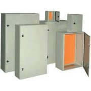 Fém elosztószekrény, acél, szürke (RAL7032) - LxWxH=600x500x200mm, IP55 TFE605020 - Tracon