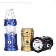 Solar Emergency Light Lantern Torch USB Mobile Charging Solar Lights (Black Yellow Blue)