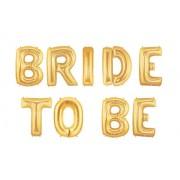 Set baloane folie bride to be auriu