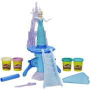 Play-Doh Frozen Enchanted Ice Palace Featuring Elsa Includes Castle Playset, Cape Cutter, Roller, Olaf Knife, 2 Cans of Play-Doh Brand Modeling Compound and 2 cans of Play-Doh Sparkle Compound