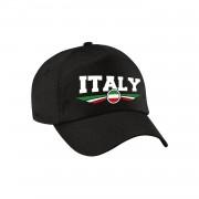 Bellatio Decorations Italie / Italy landen pet / baseball cap zwart kinderen