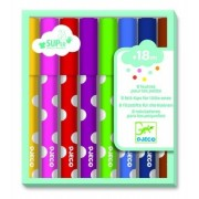 Zestaw flamastrów 8 kolorów spieralnych dla najmłodszych dzieci, pisaki dla maluchów DJECO DJ09001